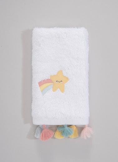Chakra Rainbow Havlu Beyaz - 30X50 Beyaz
